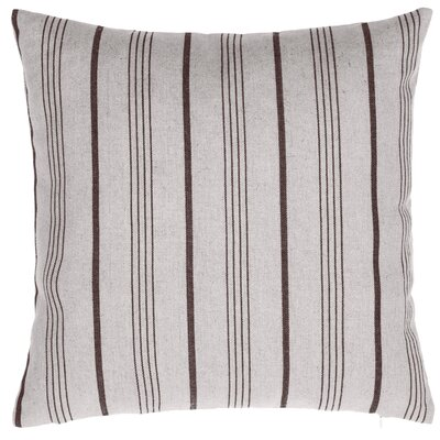 Ashmoore Stripe Throw Pillow Color: Natural