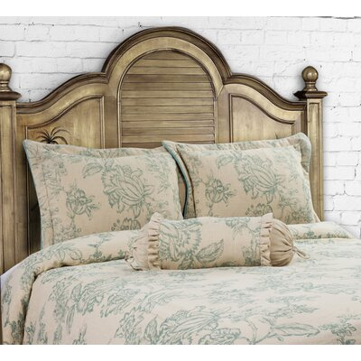 French Country 3 Piece Duvet Set Size: King, Color: Harbor