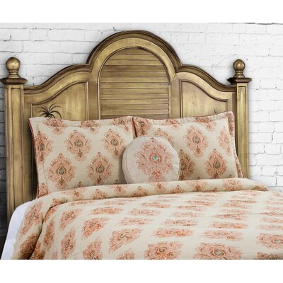 Royal 3 Piece Duvet Set Size: King, Color: Spice; Harbor