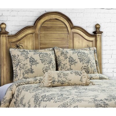 French Country 3 Piece Duvet Set Color: Indigo, Size: Queen