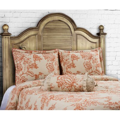French Country 3 Piece Duvet Set Size: King, Color: Spice