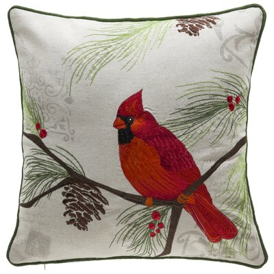 Broadalbin Christmas Cardinal Throw Pillow