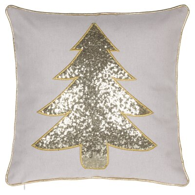 Ahana Christmas Tree Throw Pillow Color: Gold
