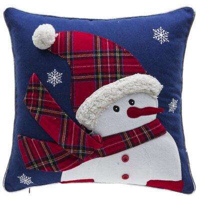 Twinkle Snowman 100% Cotton Throw Pillow