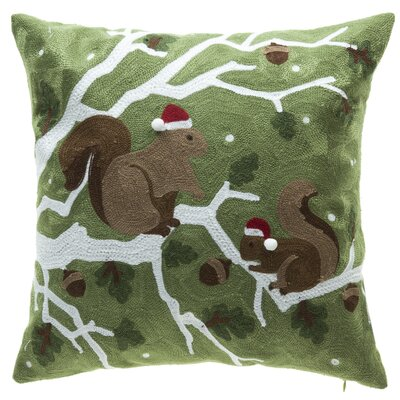 Holiday Squirrel Throw Pillow