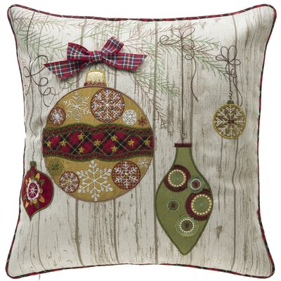 Ornamental Christmas Throw Pillow