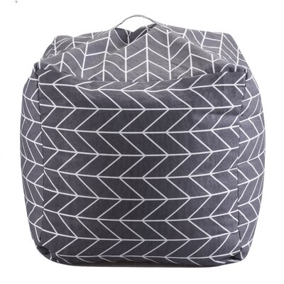 Geometric Bean Bag Chair Upholstery: Gray