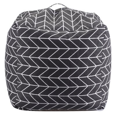 Geometric Bean Bag Chair Upholstery: Black