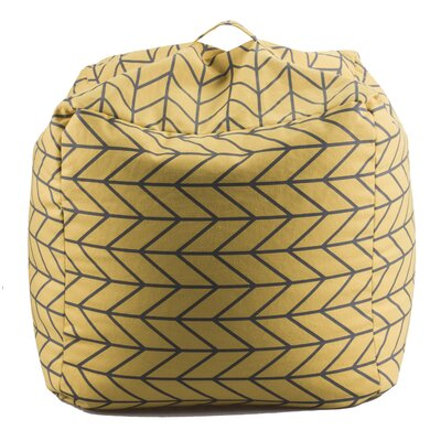 Geometric Bean Bag Chair Upholstery: Yellow