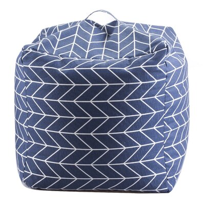 Geometric Bean Bag Chair Upholstery: Navy