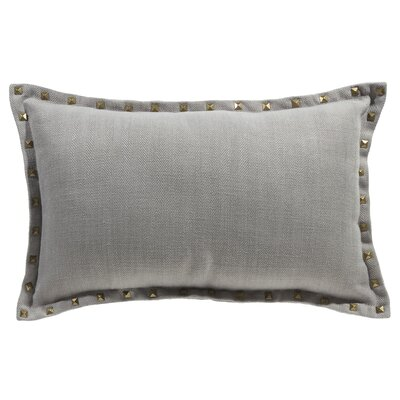 Herringbone Lumbar Pillow Color: Pewter