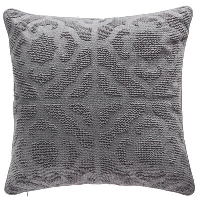 Oak Lane Mosaic Throw Pillow Color: Pewter