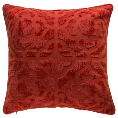 Oak Lane Mosaic Throw Pillow Color: Spice