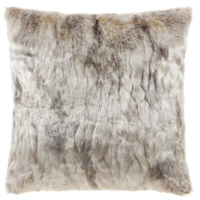 Cosima Frosted Faux Fur Throw Pillow