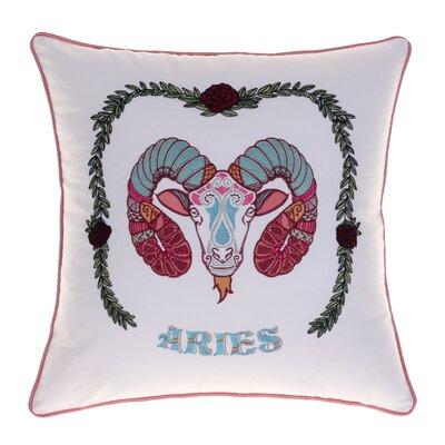 Horoscope Aries 100% Cotton Throw Pillow