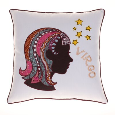Horoscope Virgo 100% Cotton Throw Pillow