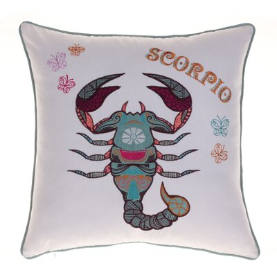 Horoscope Scorpio 100% Cotton Throw Pillow