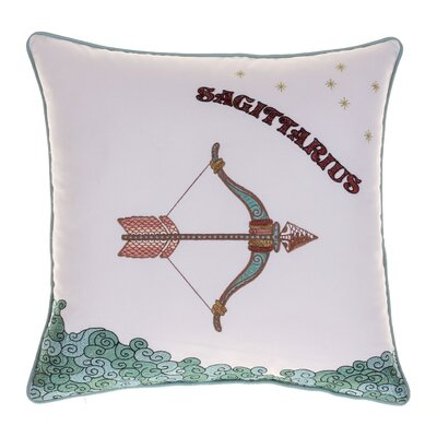 Horoscope Sagittarius 100% Cotton Throw Pillow