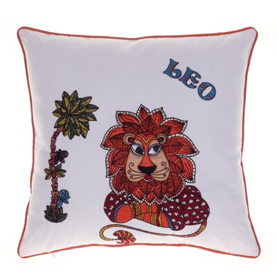 Horoscope Leo 100% Cotton Throw Pillow
