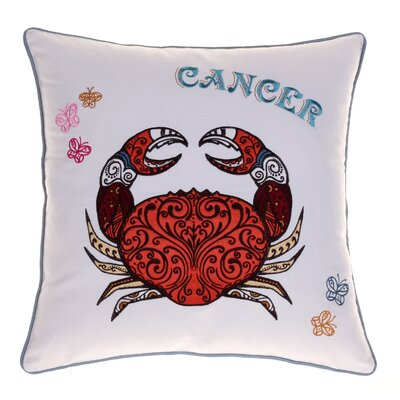 Horoscope Cancer 100% Cotton Throw Pillow