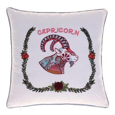 Horoscope Capricorn 100% Cotton Throw Pillow