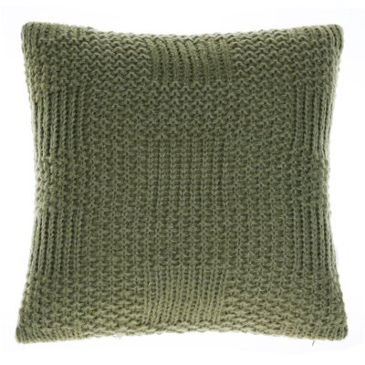 Jinie Knit Throw Pillow Color: Moss