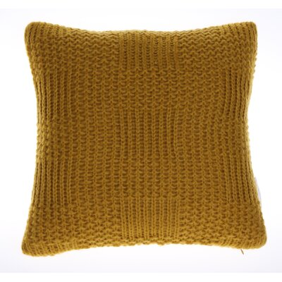 Jinie Knit Throw Pillow Color: Curry