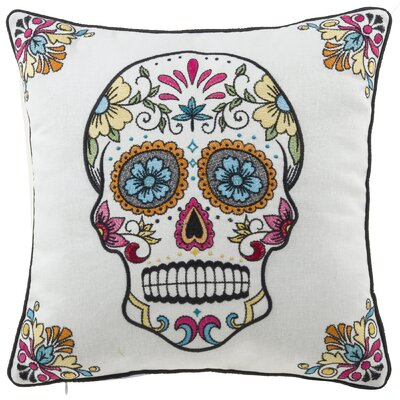 Mona Skull Throw Pillow