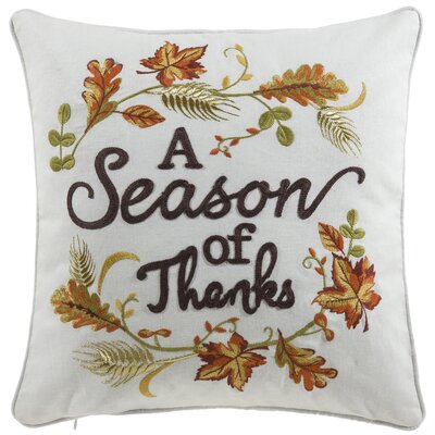 Fairmount Season of Thanks Throw Pillow