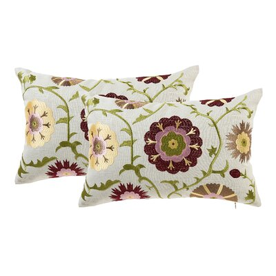 Armetta Floral Lumbar Pillow Color: Beige