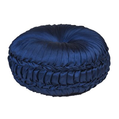 Acamar Tufted Round Floor Pillow Color: Indigo