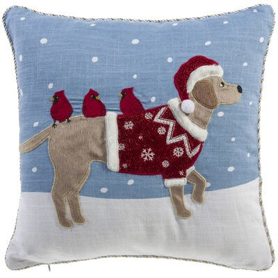 Holiday Dog Throw Pillow