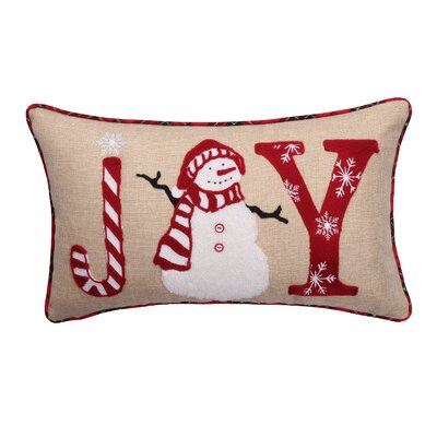 Joy Snowman Lumbar Pillow