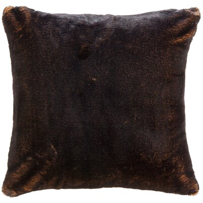 Newport Faux Fur Throw Pillow Color: Brown