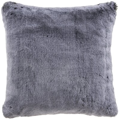 Newport Faux Fur Throw Pillow Color: Gray