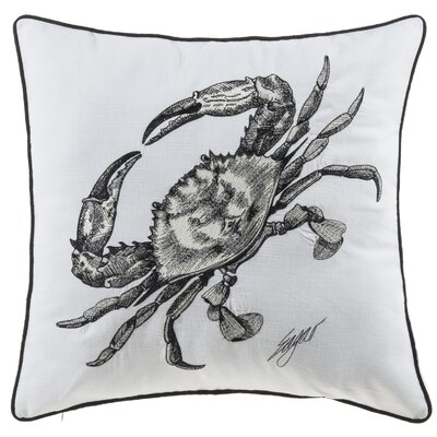 Buariki Crab Sea Creatures Cotton Throw Pillow