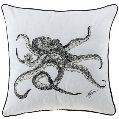 Bucci Octopus Sea Creatures Cotton Throw Pillow
