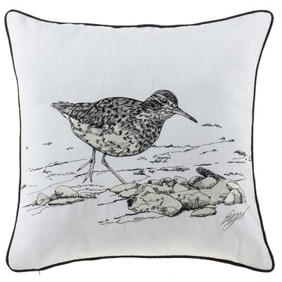 Buch Seagull Sea Creatures Cotton Throw Pillow