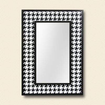 ReflectU Houndstooth Decorative Wall Mirror