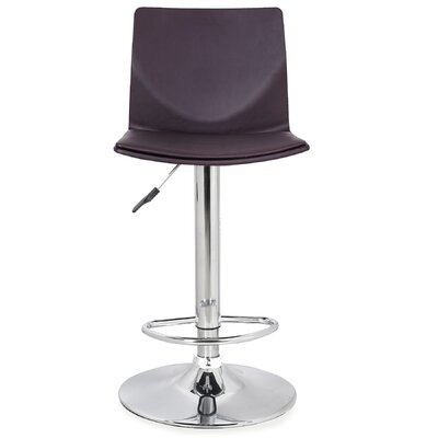 Adjustable Height Swivel Bar Stool Upholstery: Deep Brown