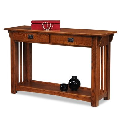 Cheap Leick Mission Impeccable Sofa Table in Medium Oak (LKF1041)