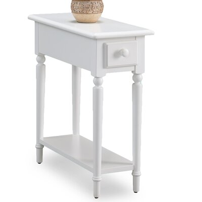 Coastal Notions End Table With Storage Color: Orchid White