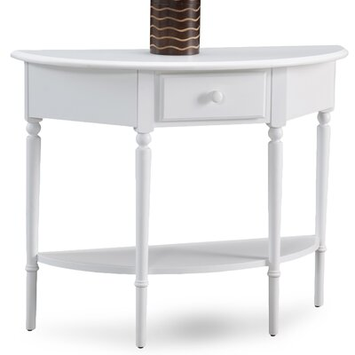 Coastal Notions Console Table Finish: Orchid White