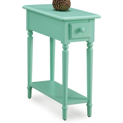 Coastal Notions End Table With Storage Color: Kiwi Green
