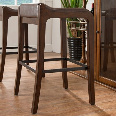32 Bar Stool Finish: Sienna, Upholstery: Sable