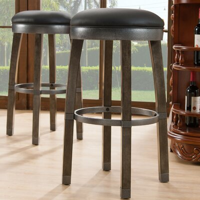 30 Swivel Bar Stool Finish / Upholstery: Frame Color / Upholstery