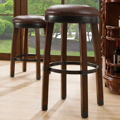 26 Swivel Bar Stool Finish / Upholstery: Sienna / Sable
