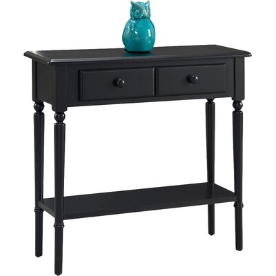 Coastal Notions Console Table Finish: Swan Black