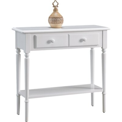 Coastal Notions Console Table Finish: Off-White