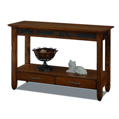 Buy low price pulaski rustic distressed chic three drawer for Low sofa table